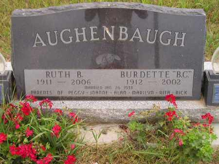 "AUGHENBAUGH, BURDETTE ""B.C."" - Kingsbury County, South Dakota 