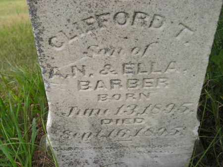 BARBER, CLIFFORD T. - Kingsbury County, South Dakota   CLIFFORD T. BARBER - South Dakota Gravestone Photos