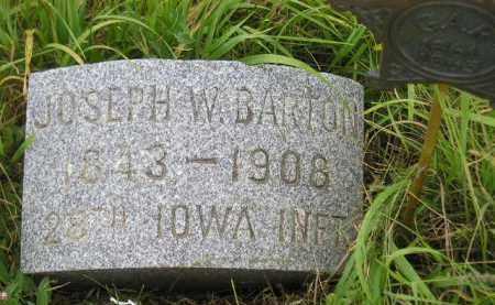 BARTON, JOSEPH W. - Kingsbury County, South Dakota   JOSEPH W. BARTON - South Dakota Gravestone Photos