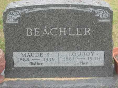 BEACHLER, MAUDE S. - Kingsbury County, South Dakota | MAUDE S. BEACHLER - South Dakota Gravestone Photos
