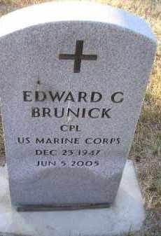 BRUNICK, EDWARD - Kingsbury County, South Dakota | EDWARD BRUNICK - South Dakota Gravestone Photos