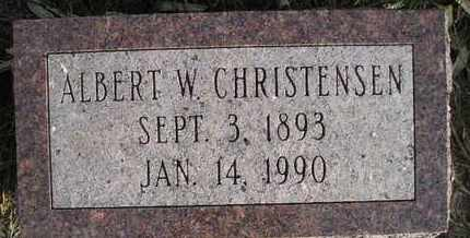 CHRISTENSEN, ALBERT W - Kingsbury County, South Dakota | ALBERT W CHRISTENSEN - South Dakota Gravestone Photos