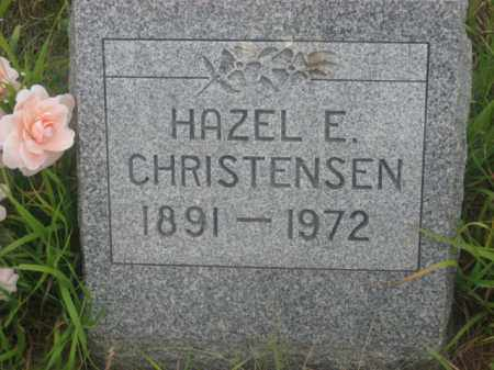 CHRISTENSEN, HAZEL E. - Kingsbury County, South Dakota   HAZEL E. CHRISTENSEN - South Dakota Gravestone Photos