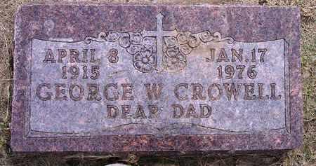CROWELL, GEORGE W - Kingsbury County, South Dakota   GEORGE W CROWELL - South Dakota Gravestone Photos