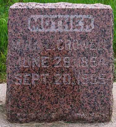 CROWELL, MINA L - Kingsbury County, South Dakota   MINA L CROWELL - South Dakota Gravestone Photos