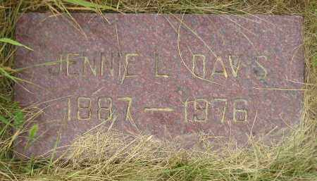 DAVIS, JENNIE L. - Kingsbury County, South Dakota | JENNIE L. DAVIS - South Dakota Gravestone Photos