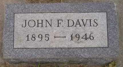DAVIS, JOHN F. - Kingsbury County, South Dakota | JOHN F. DAVIS - South Dakota Gravestone Photos