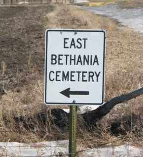 *EAST BETHANIA, ROAD SIGN - Kingsbury County, South Dakota | ROAD SIGN *EAST BETHANIA - South Dakota Gravestone Photos