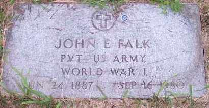 FALK, JOHN E - Kingsbury County, South Dakota | JOHN E FALK - South Dakota Gravestone Photos
