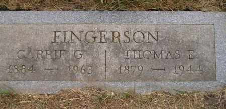 FINGERSON, THOMAS E. - Kingsbury County, South Dakota | THOMAS E. FINGERSON - South Dakota Gravestone Photos