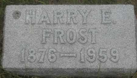 FROST, HARRY E. - Kingsbury County, South Dakota | HARRY E. FROST - South Dakota Gravestone Photos