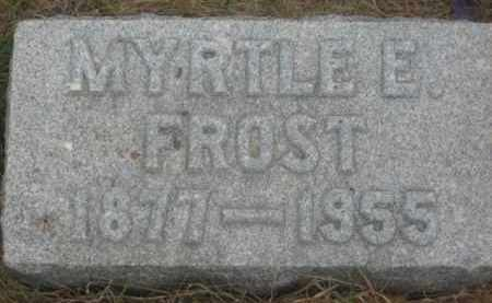 FROST, MYRTLE E. - Kingsbury County, South Dakota | MYRTLE E. FROST - South Dakota Gravestone Photos