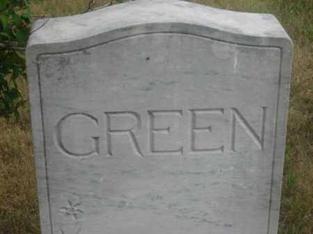 GREEN, FAMILY STONE - Kingsbury County, South Dakota | FAMILY STONE GREEN - South Dakota Gravestone Photos