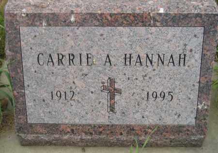 HANNAH, CARRIE A. - Kingsbury County, South Dakota | CARRIE A. HANNAH - South Dakota Gravestone Photos