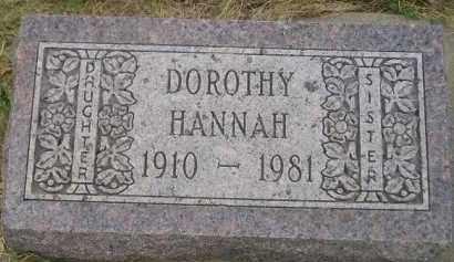 HANNAH, DOROTHY - Kingsbury County, South Dakota | DOROTHY HANNAH - South Dakota Gravestone Photos