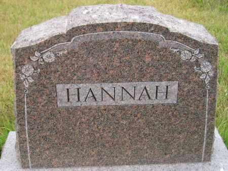 HANNAH, FAMILY STONE - Kingsbury County, South Dakota | FAMILY STONE HANNAH - South Dakota Gravestone Photos