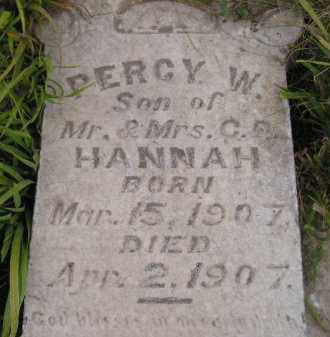 HANNAH, PERCY W. - Kingsbury County, South Dakota | PERCY W. HANNAH - South Dakota Gravestone Photos