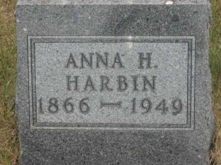 HARBIN, ANNA H. - Kingsbury County, South Dakota   ANNA H. HARBIN - South Dakota Gravestone Photos
