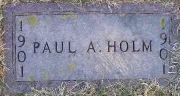 HOLM, PAUL A - Kingsbury County, South Dakota   PAUL A HOLM - South Dakota Gravestone Photos