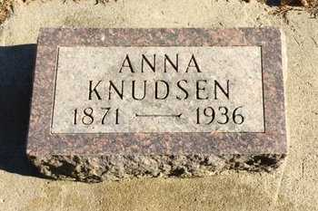 KNUDSEN, ANNA - Kingsbury County, South Dakota | ANNA KNUDSEN - South Dakota Gravestone Photos