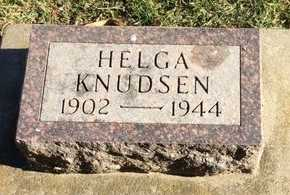 KNUDSEN, HELGA - Kingsbury County, South Dakota | HELGA KNUDSEN - South Dakota Gravestone Photos
