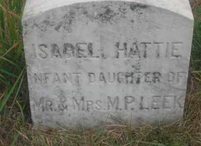 LEEK, ISABEL HATTIE - Kingsbury County, South Dakota   ISABEL HATTIE LEEK - South Dakota Gravestone Photos
