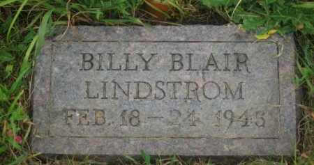 LINDSTROM, BILLY BLAIR - Kingsbury County, South Dakota | BILLY BLAIR LINDSTROM - South Dakota Gravestone Photos