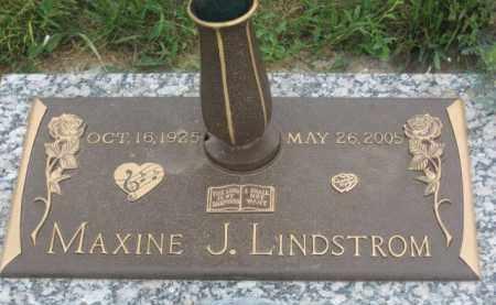 LINDSTROM, MAXINE J. - Kingsbury County, South Dakota | MAXINE J. LINDSTROM - South Dakota Gravestone Photos