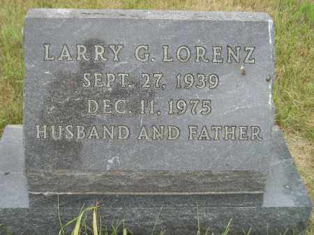 LORENZ, LARRY G. - Kingsbury County, South Dakota | LARRY G. LORENZ - South Dakota Gravestone Photos