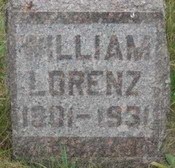 LORENZ, WILLIAM - Kingsbury County, South Dakota | WILLIAM LORENZ - South Dakota Gravestone Photos