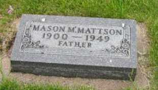 MATTSON, MASON - Kingsbury County, South Dakota   MASON MATTSON - South Dakota Gravestone Photos