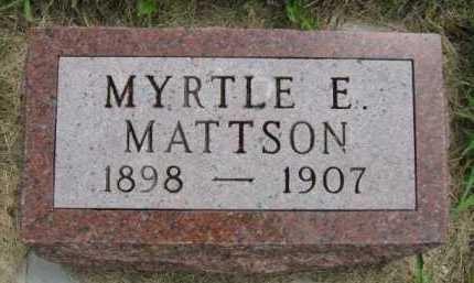 MATTSON, MYRTLE E - Kingsbury County, South Dakota   MYRTLE E MATTSON - South Dakota Gravestone Photos