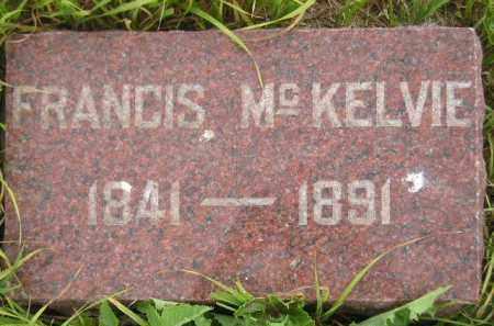MCKELVIE, FRANCIS - Kingsbury County, South Dakota | FRANCIS MCKELVIE - South Dakota Gravestone Photos