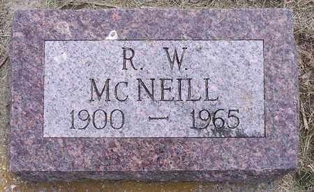 MCNEILL, R. W. - Kingsbury County, South Dakota   R. W. MCNEILL - South Dakota Gravestone Photos