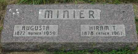 MINIER, HIRAM T. - Kingsbury County, South Dakota | HIRAM T. MINIER - South Dakota Gravestone Photos