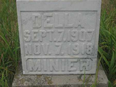 MINIER, DELLA - Kingsbury County, South Dakota | DELLA MINIER - South Dakota Gravestone Photos