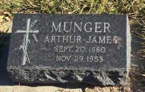 MUNGER, ARTHUR JAMES - Kingsbury County, South Dakota | ARTHUR JAMES MUNGER - South Dakota Gravestone Photos