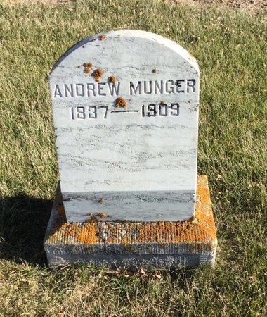 MUNGER, ANDREW - Kingsbury County, South Dakota   ANDREW MUNGER - South Dakota Gravestone Photos