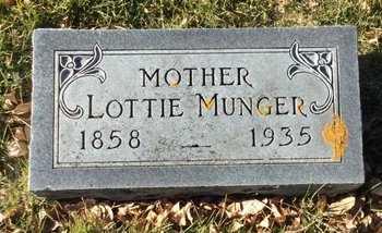 "COMPO MUNGER, CHARLOTTE A ""LOTTIE"" - Kingsbury County, South Dakota   CHARLOTTE A ""LOTTIE"" COMPO MUNGER - South Dakota Gravestone Photos"