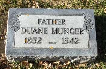 MUNGER, DUANE - Kingsbury County, South Dakota   DUANE MUNGER - South Dakota Gravestone Photos
