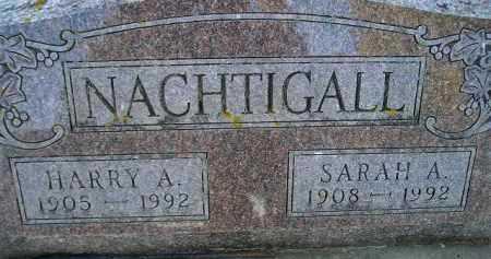 NACHTIGALL, SARAH A - Kingsbury County, South Dakota | SARAH A NACHTIGALL - South Dakota Gravestone Photos