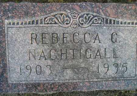 NACHTIGALL, REBECCA G - Kingsbury County, South Dakota | REBECCA G NACHTIGALL - South Dakota Gravestone Photos