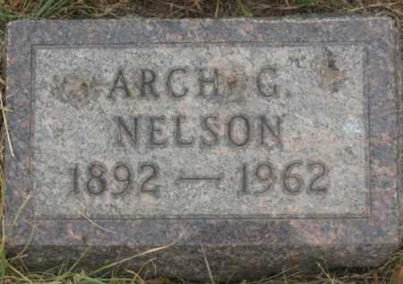 NELSON, ARCH G. - Kingsbury County, South Dakota   ARCH G. NELSON - South Dakota Gravestone Photos
