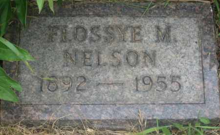 NELSON, FLOSSYE M. - Kingsbury County, South Dakota | FLOSSYE M. NELSON - South Dakota Gravestone Photos