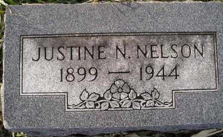 NELSON, JUSTINE N - Kingsbury County, South Dakota | JUSTINE N NELSON - South Dakota Gravestone Photos