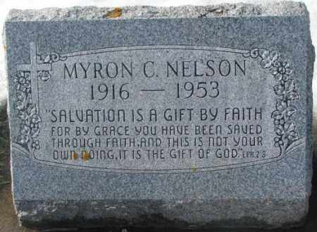 NELSON, MYRON C. - Kingsbury County, South Dakota | MYRON C. NELSON - South Dakota Gravestone Photos