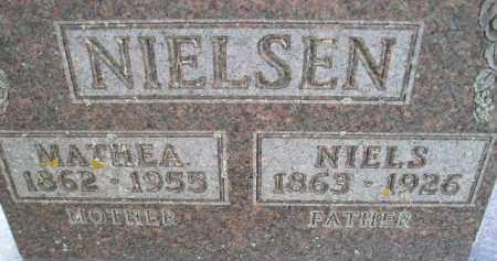 NIELSEN, MATHEA - Kingsbury County, South Dakota | MATHEA NIELSEN - South Dakota Gravestone Photos
