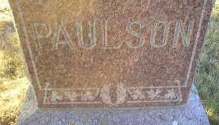 PAULSON, STONE - Kingsbury County, South Dakota   STONE PAULSON - South Dakota Gravestone Photos