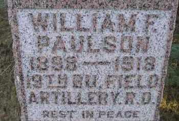PAULSON, WILLIAM F - Kingsbury County, South Dakota | WILLIAM F PAULSON - South Dakota Gravestone Photos