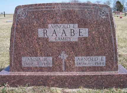 RAABE, ARNOLD EMIL - Kingsbury County, South Dakota | ARNOLD EMIL RAABE - South Dakota Gravestone Photos